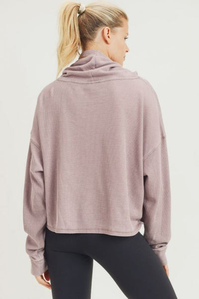 Lindsay Waffle Knit Pullover