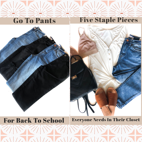 Staple Pieces & Go To Pants For Back To School