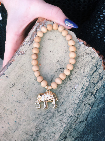 Wooden Elephant Bracelets (More Colors)