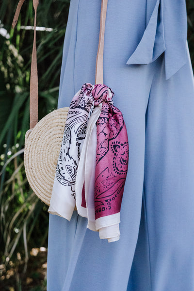 Ombre Paisley Silk Scarf