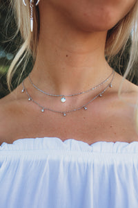 Disc & Teardrop Layered Necklace