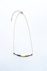 Color Block Necklace (Multiple Colors)