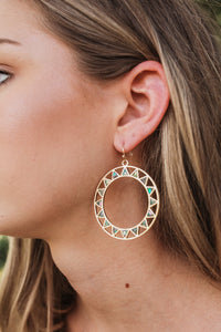 Zig Zag Circle Earrings