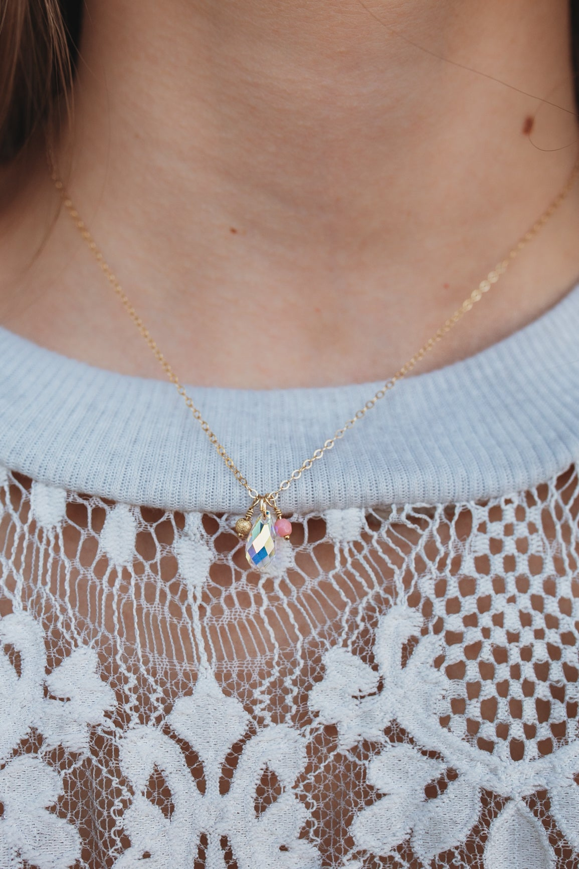 Delicate Teardrop Necklace