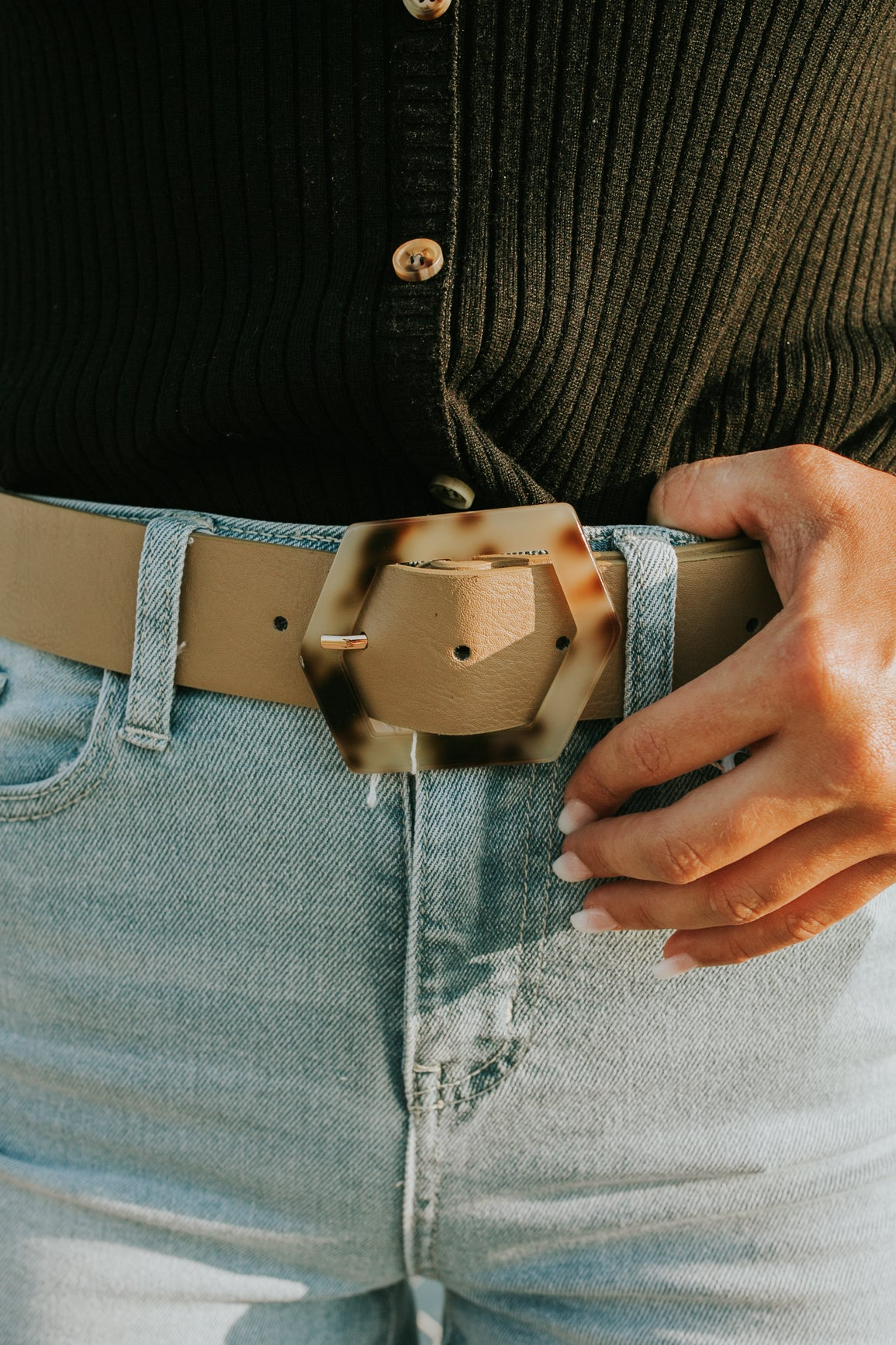 Tortoise Hexagon Belt