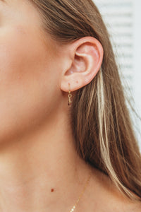Dainty Beaded Drop Earrings