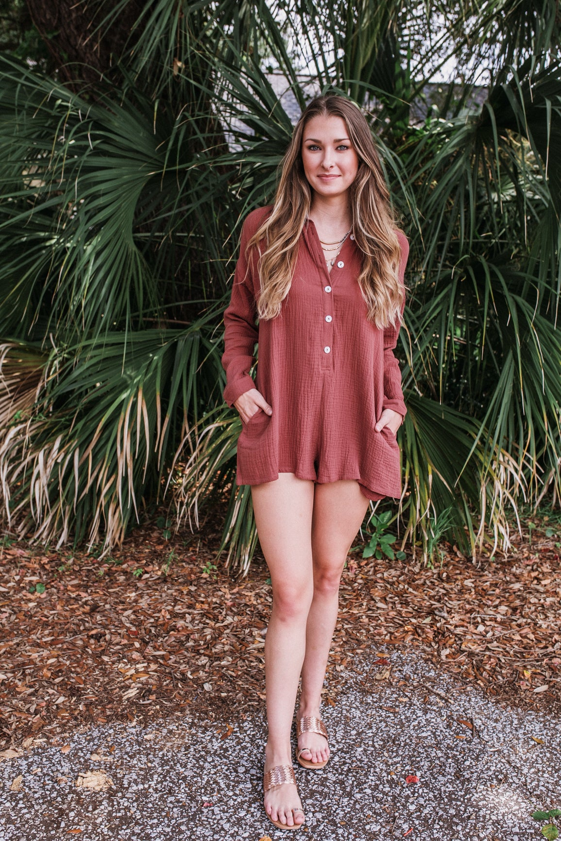 Bronx Button Romper (Multiple Colors)