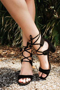 Cylinder Lace Up Sandal