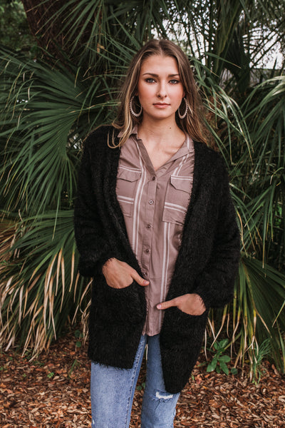 Soft Fuzzy Cardigan (Multiple Colors)