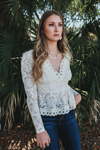 Raleigh Lace Top