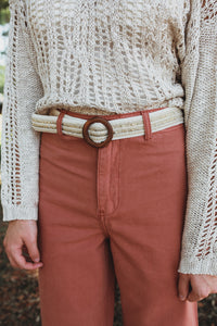 Braided & Embellished Belt