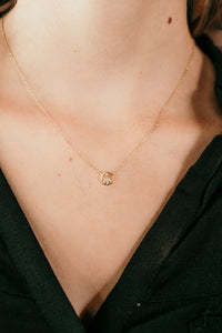 Peace Diamond Necklace