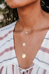 3 Layered Gold Coin Necklace