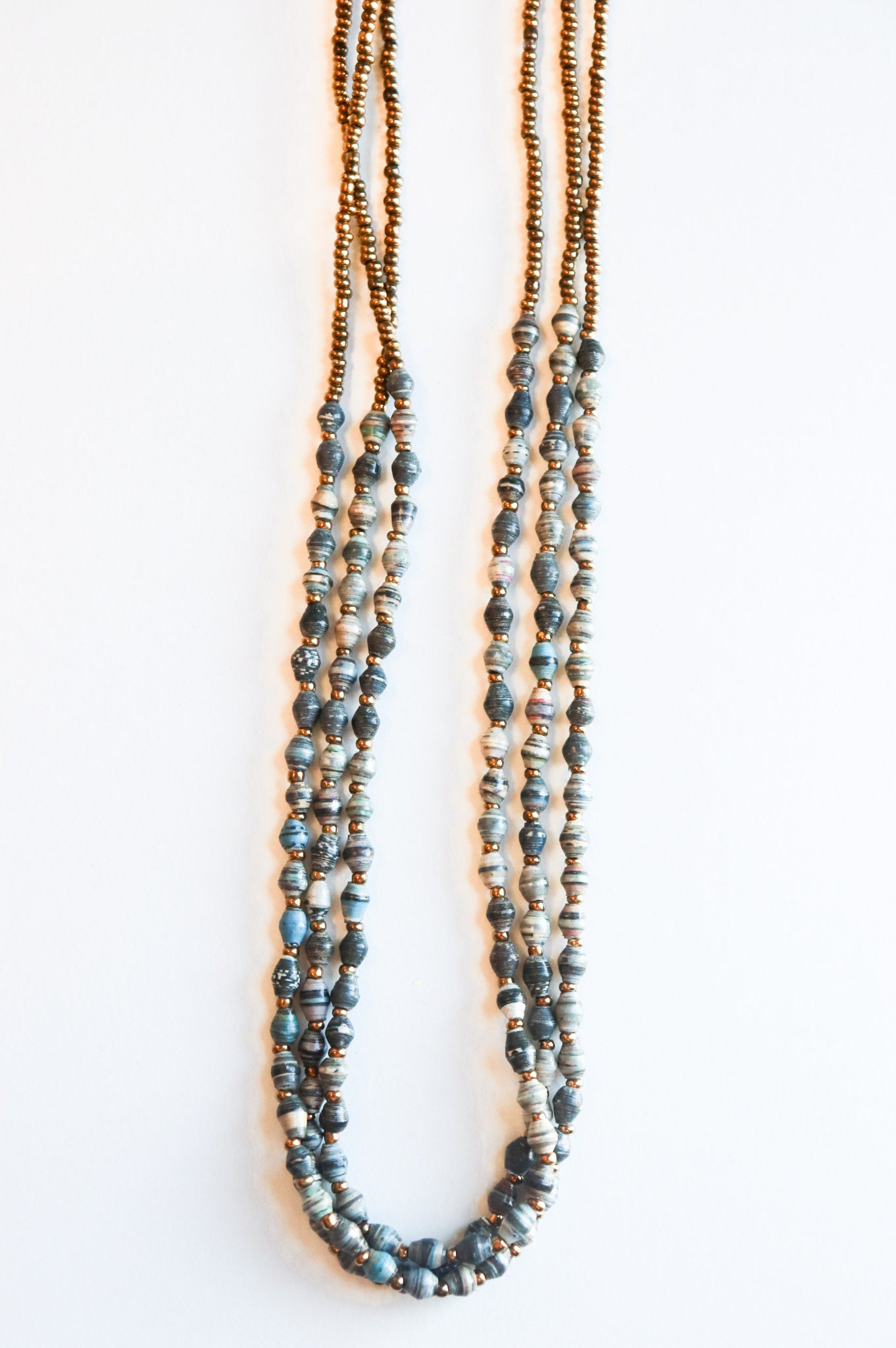 3 Layer & Bead Magazine Necklace (Multiple Colors)