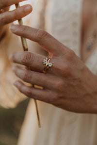 Two Diamond Gold Ring