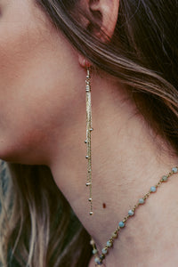 7 Snake Ball Chain Earrings
