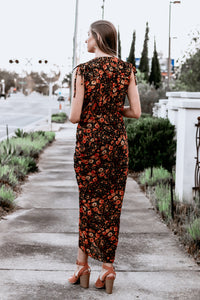 Albi Ruched Wrap Floral Dress