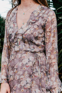 Anderson Floral Taupe Dress