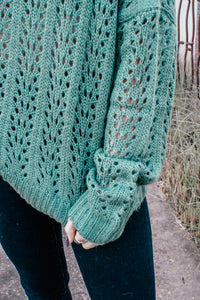 Anita Crochet Green Sweater