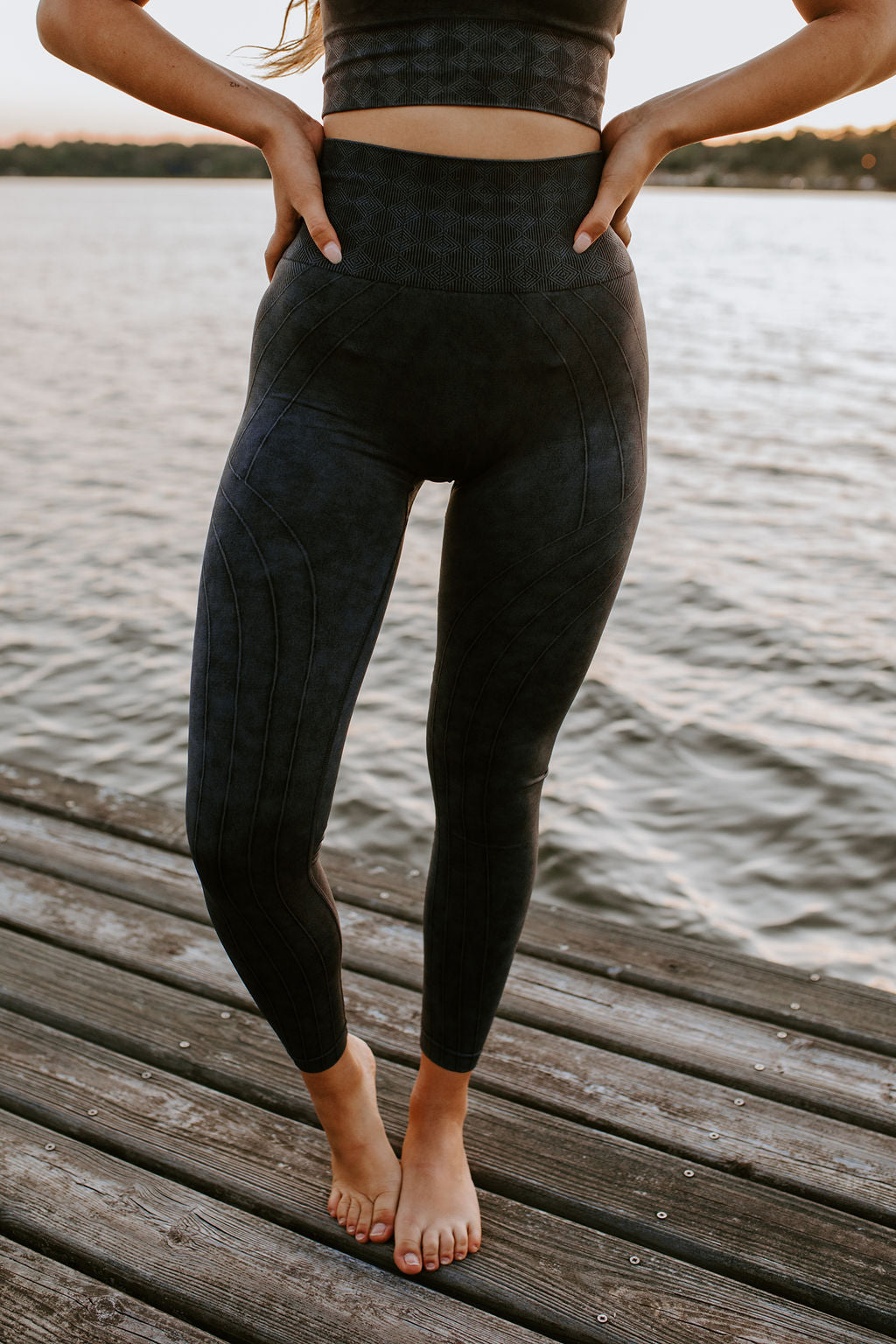 Black Diamond Mineral Wash Workout Leggings