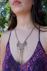 Gold Tribal/Spike Necklace