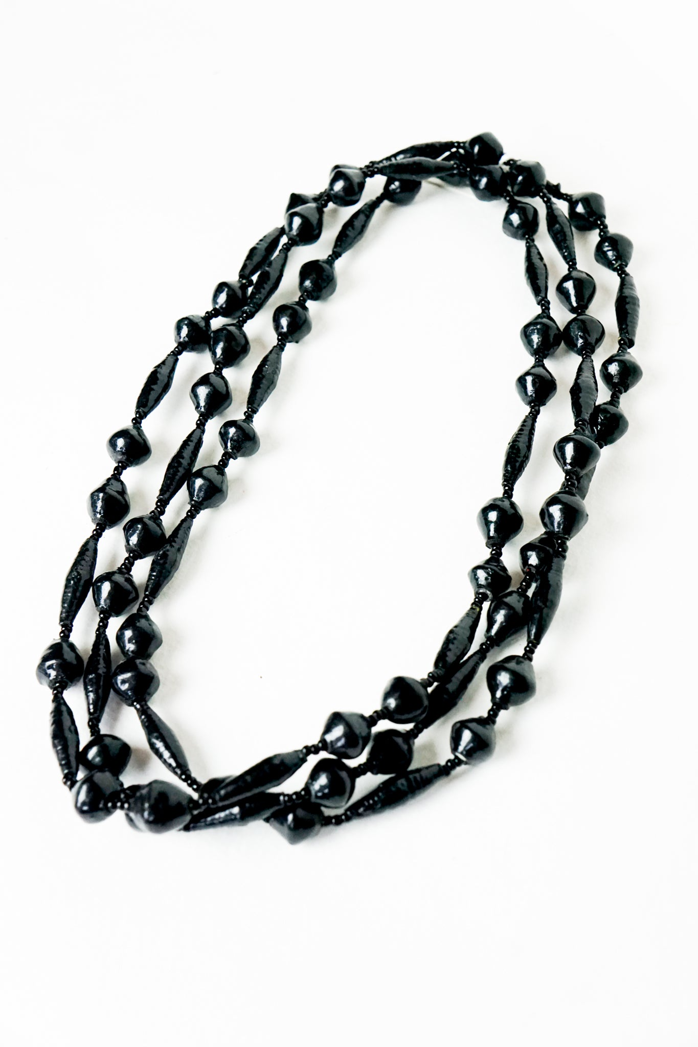 Long Black Diamond Necklace