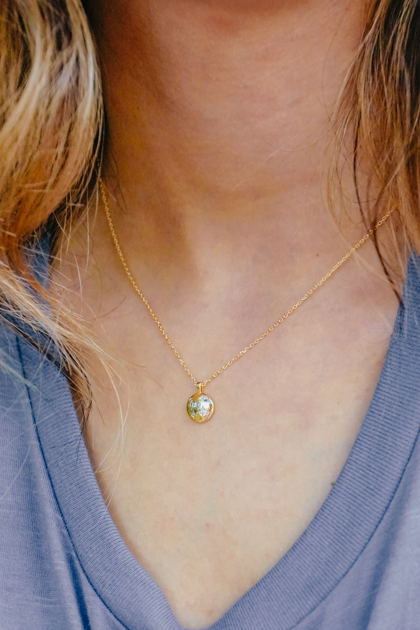 Mini Coin & Star Necklace