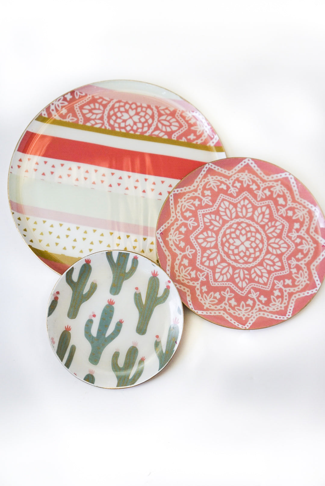 Topanga Trinket Trays-Set of 3 (Multiple Colors)