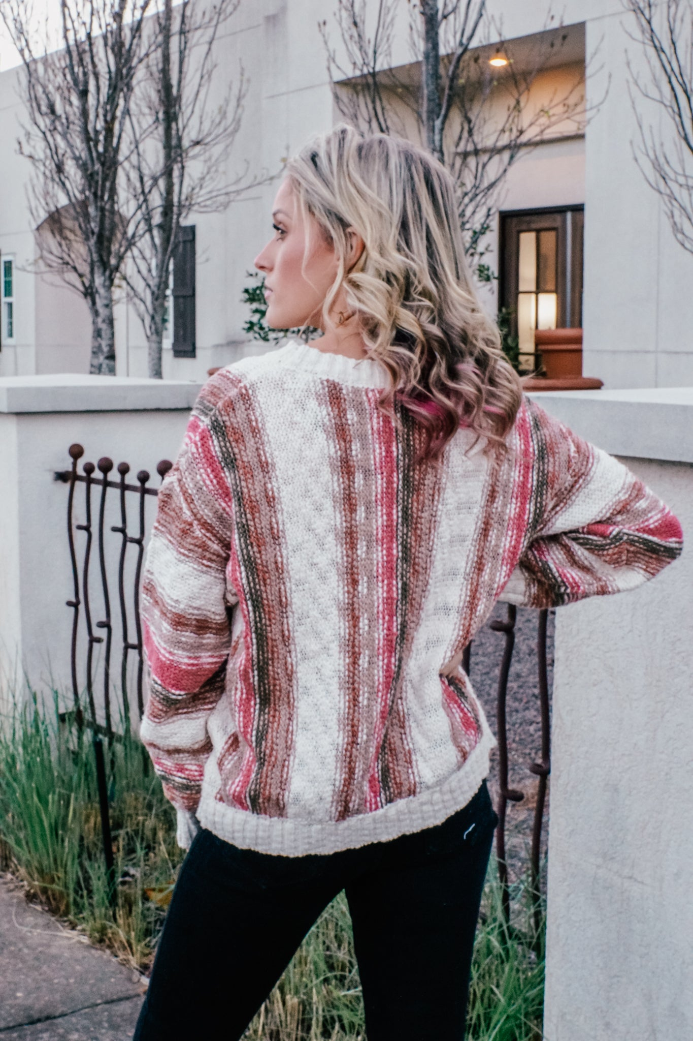 Dawn Multi Colored Striped Sweater