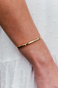 Diamond Circle Metal Gold Cuff