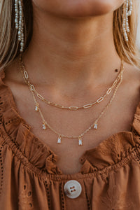 Double Layer Crystal Necklace