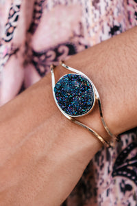 Druzy Cuff Bracelet (Multiple Colors)
