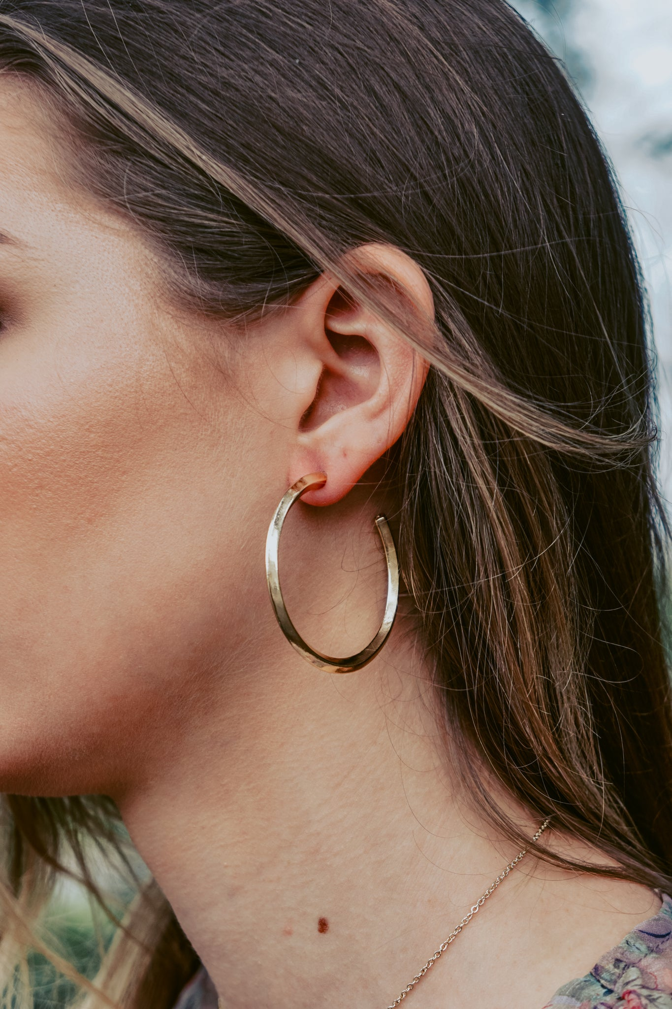 Edge Thick Gold Hoops