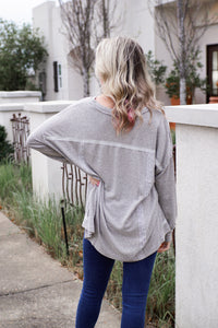Garreston Henley Grey Top