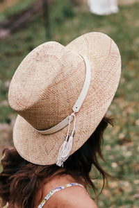 Gigi Pip Brae Natural Straw Boater *Band not included*