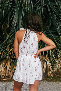Honolulu Floral White Dress