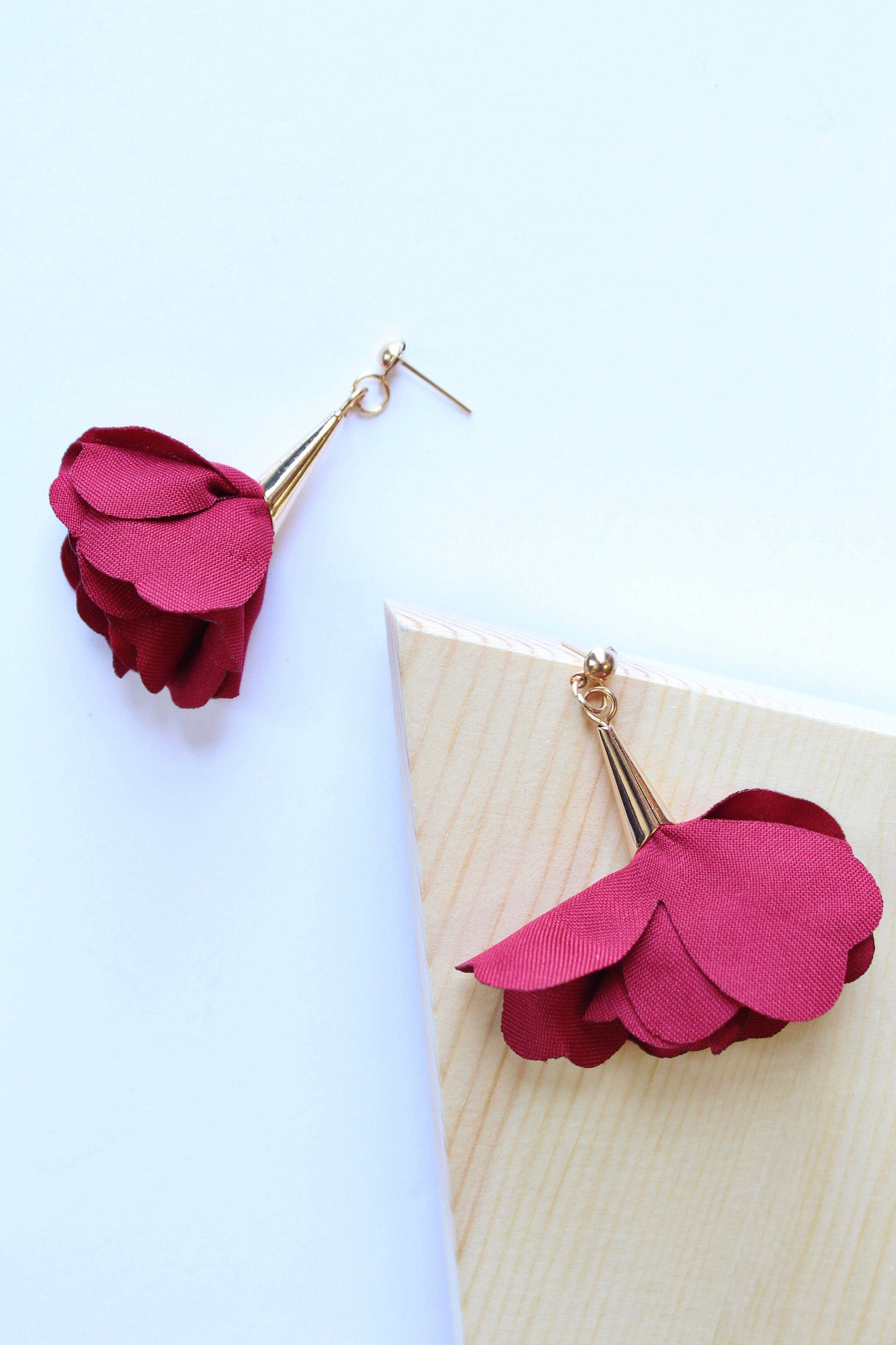 Drop Rose Earring (Multiple Colors)