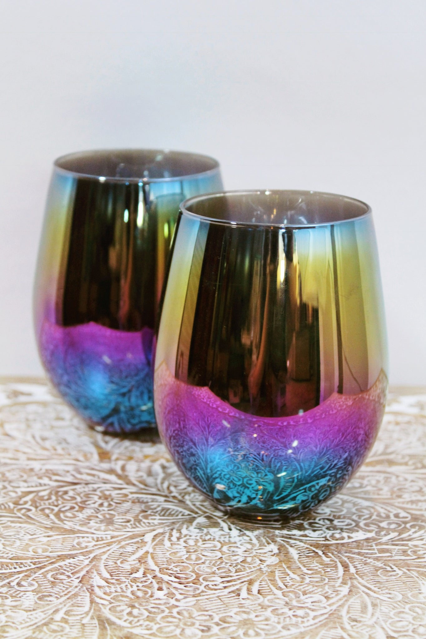 Spectrum Stemless Glass Set