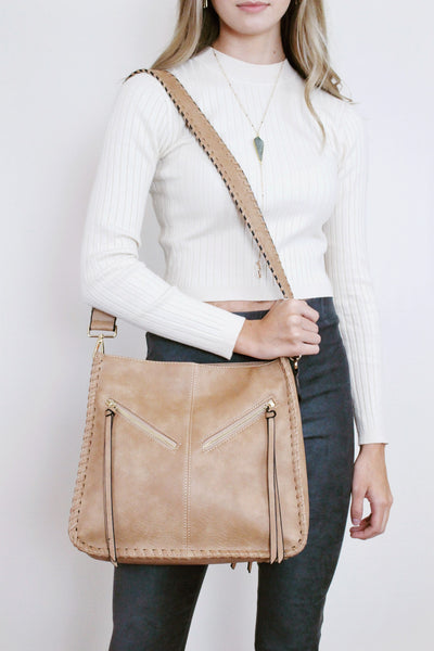 Two Zip Messenger Bag