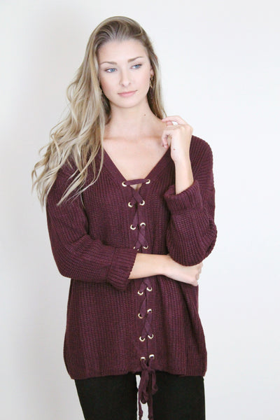 Cross Knit Sweater (Multiple Colors)