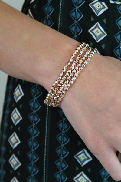 Shiny Bead Bracelet (Multiple Colors)