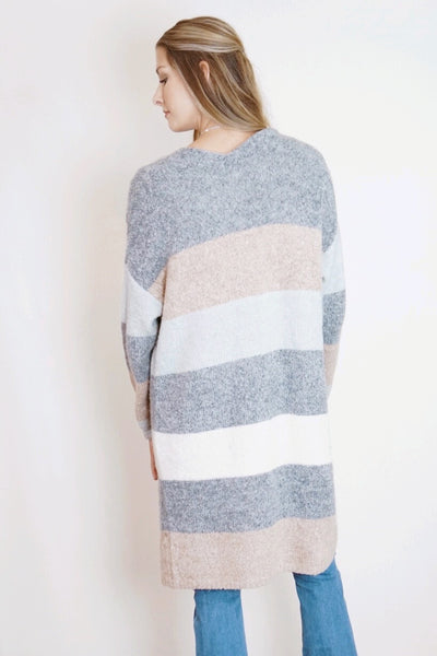 Thick Stripe Cardigan