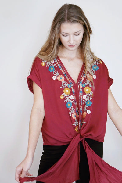 Genivee Embroidered Top