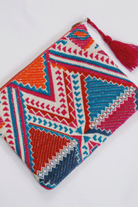 Multi Embroidered Pouch