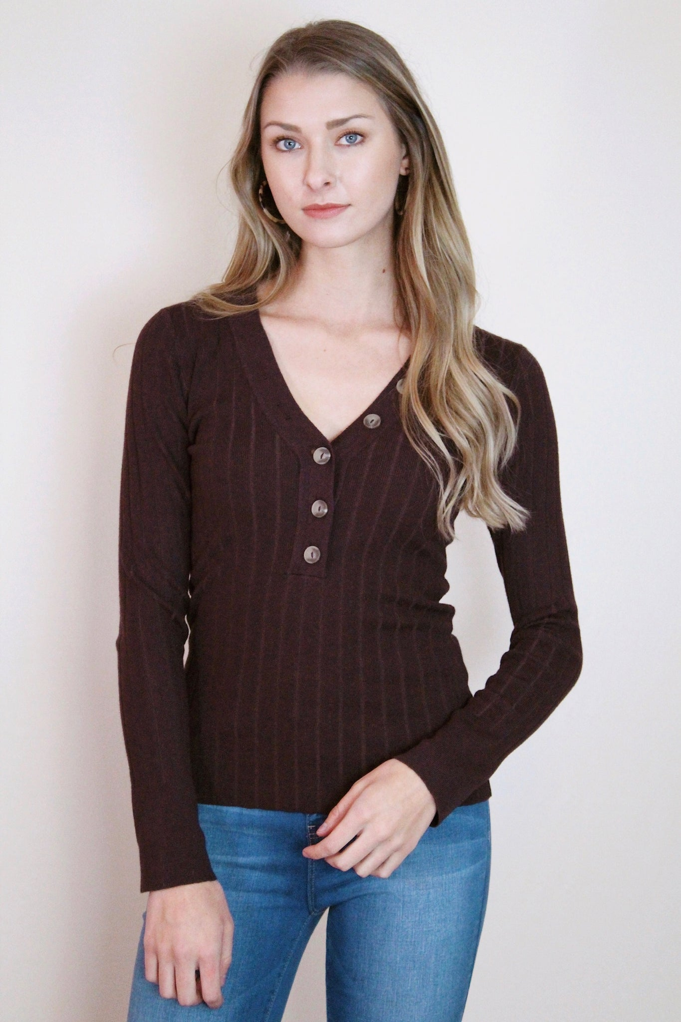 Tortoise Button Henley