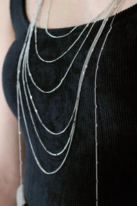Silver Bar Layer Necklace