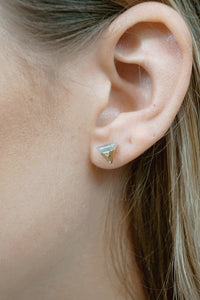 Stone Triangle Stud