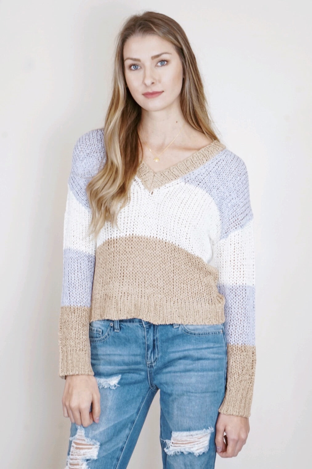 Sora Stripe Sweater