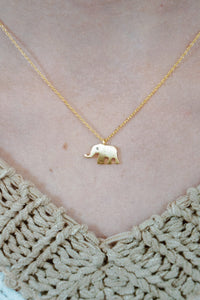 Brushed Elephant Necklace