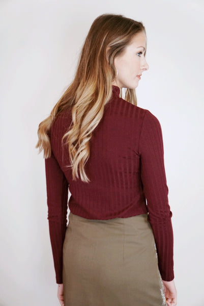 Ribbed Turtleneck (Multiple Colors)